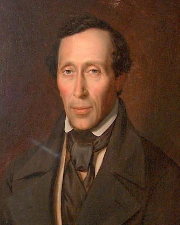 H.C. Andersen. Del af maleri af Storch, 1852. Foto: Lars Bjørnsten Odense 2005
