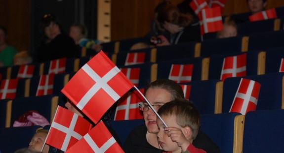 Dannebrog blev brugt flittigt ved H.C. Andersens børnefødselsdag.