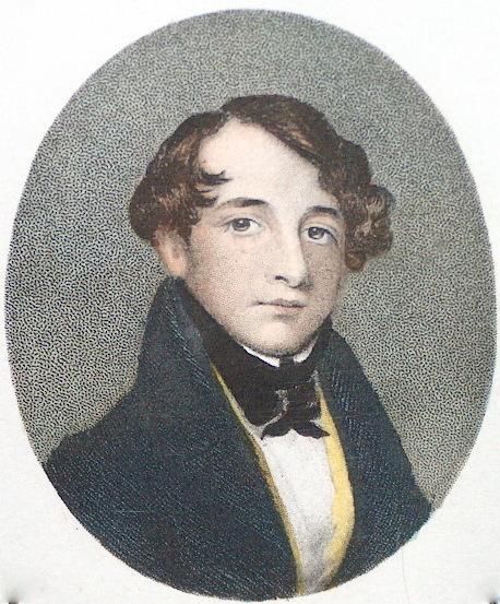 Dickens in 1835. From a miniature. By Rose Emma Drummond. Foto Lars Bjoernsten 2003
