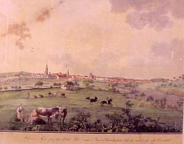 Søren Læssøe Lange (1760-1828). Odense set fra øst. 1805