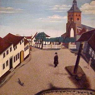 Klingenberg med Sankt Kunds kirke. Usigneret.
