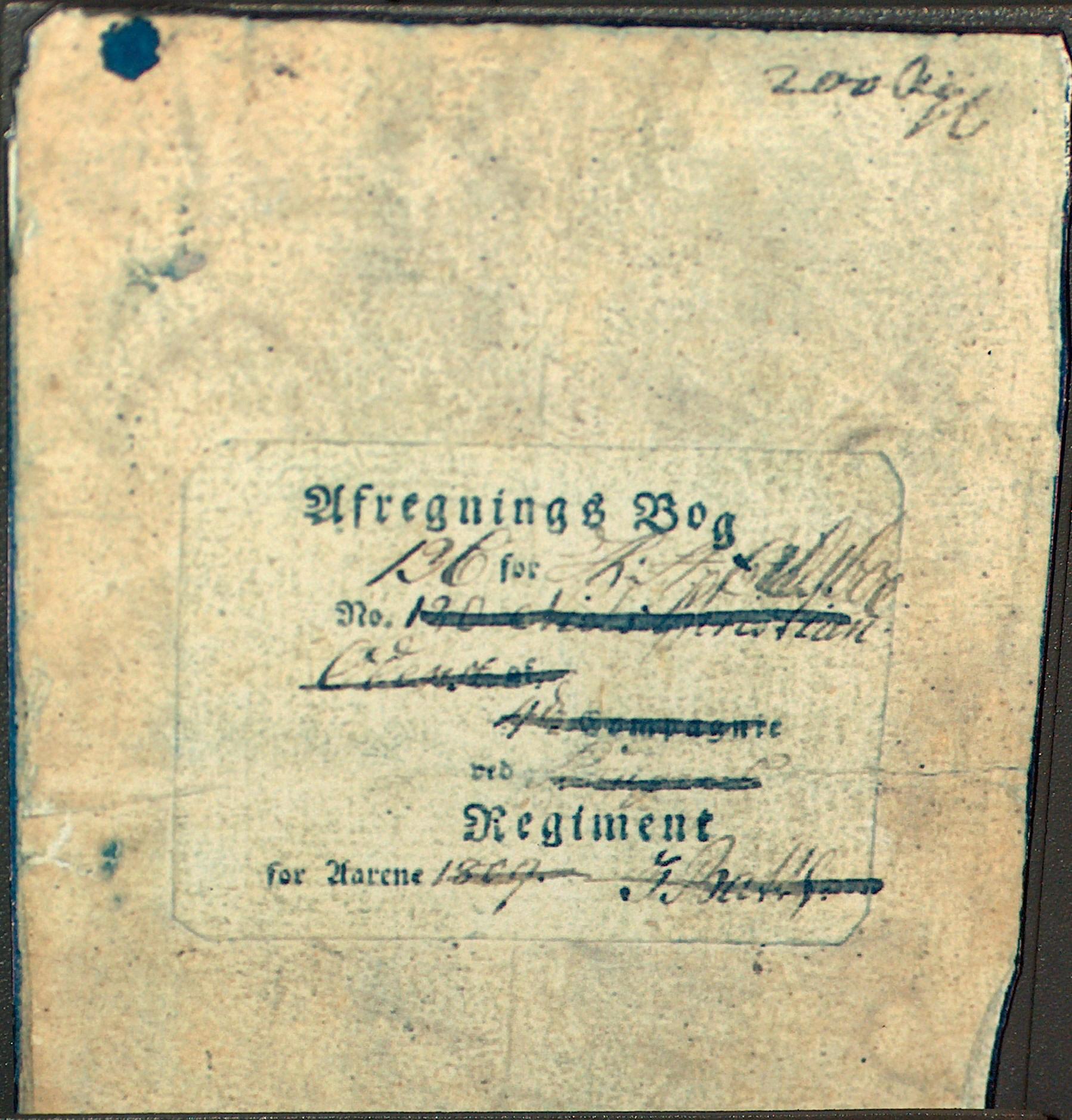 H.C. Andersen faders afregningsbog til militæret
