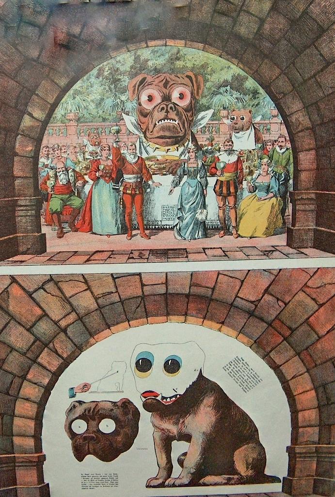 """Dekorationer og figurer til H.C. Andersens eventyr """"Fyrtøjet"""""""