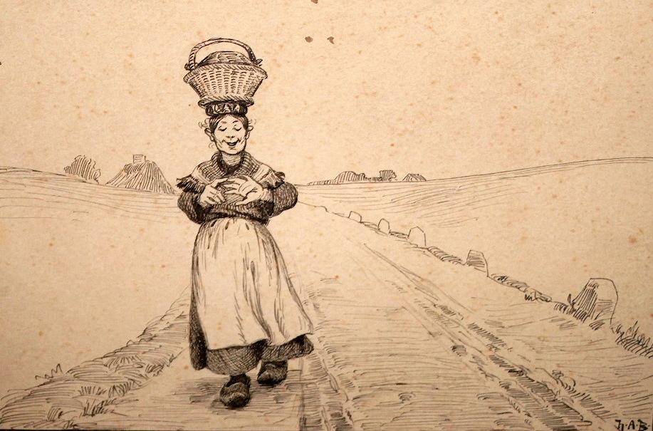 Hans Andersen Brendekilde (1857-1942) Konen med æggene - The Woman with the Eggs.