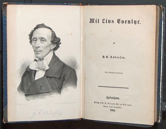 """H.C. Andersens første danske selvbiografi """"Mi Livs Eventyr"""" 1855"""