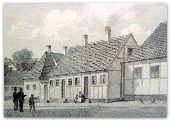 H.C. Andersen barndomshjem i Munkemøllestræde i Odense