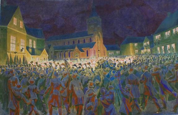 Fakkeltog 6.dec. 1867. Foto Lars Bjørnsten Odense