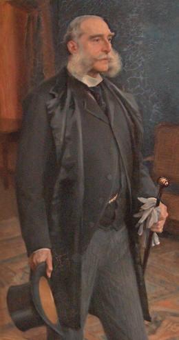 Udsnit af maleri af Gebhard Léon Moltke-Huitfeldt (1829-1896). Set på Glorup Slot. Foto Lars Bjørnsten Odense 2005