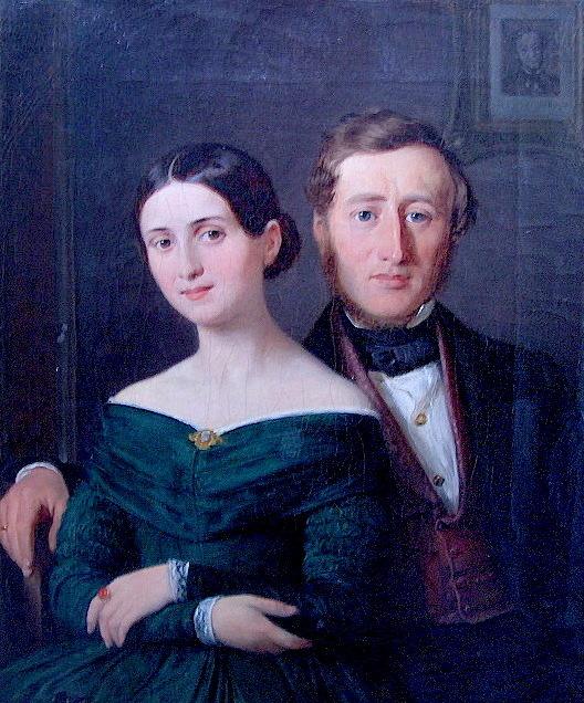 Maleri af W. Marstrand 1842. Edvard og Henriette Collin. Foto Lars Bjørnsten Odense 2003