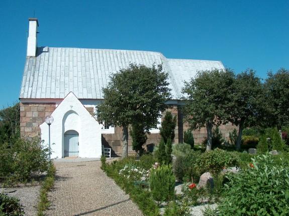 Gørding Kirke Ringkøbing Provsti Ribe Stift.     Foto : Lars Bjørnsten 21. juli 2003
