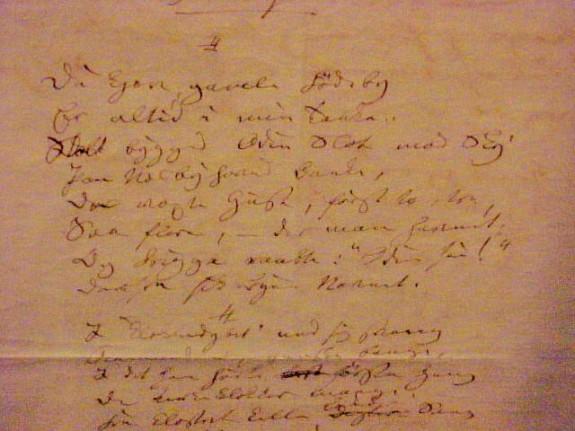 H.C. Andersen digt Odense fra 1875  Odense. Foto Lars Bjørnsten Odense