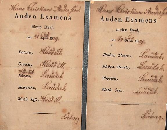 Anden eksamen 1829. Foto Lars Bjørnsten