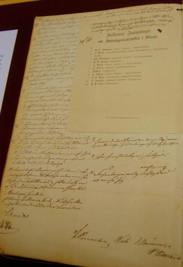 Odense Kommunalbestyrelses forhandlingsprotokol 15. november 1867
