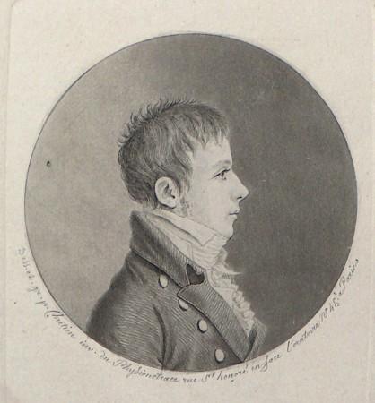 H.C. Ørsted( 1777-1851) er elektromagnatismens opfinder. H.C. Ørsted eksaminerede Hans Christian Andersen ved Anden Eksamen. Han og Andersen havde et nært og godt forhold til hinaden. Kobberstik af Gilles-Louis Chrétien, ca. 1800.