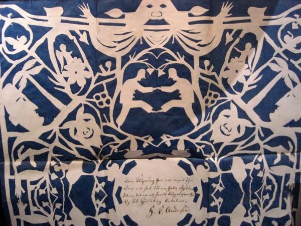H.C. Andersen papirklip. Foto Lars Bjørnsten