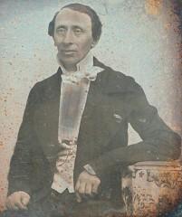 Den ældste fotografiske optagelse af H.C. Andersen ca. 1846. Foto. Lars Bjørnsten 2004