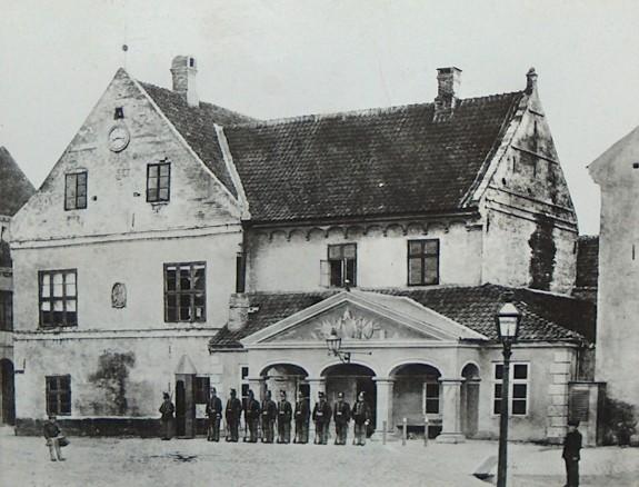 Odense Raadhus1867. Kilde Odense Bys Museer