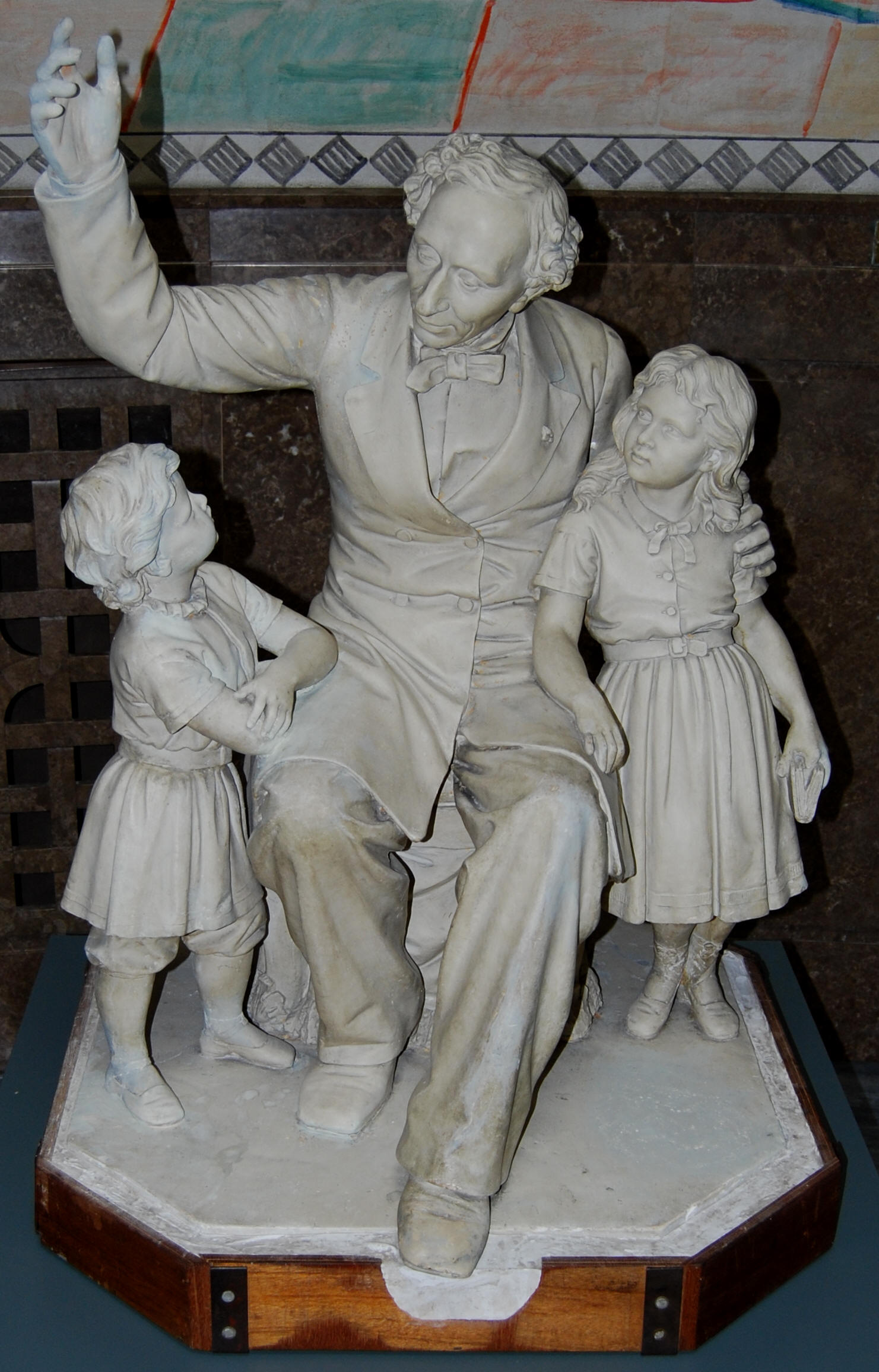 Lauritz Terpager Malling Prior: Skitse i gips til H.C. Andersen monumentet 1875