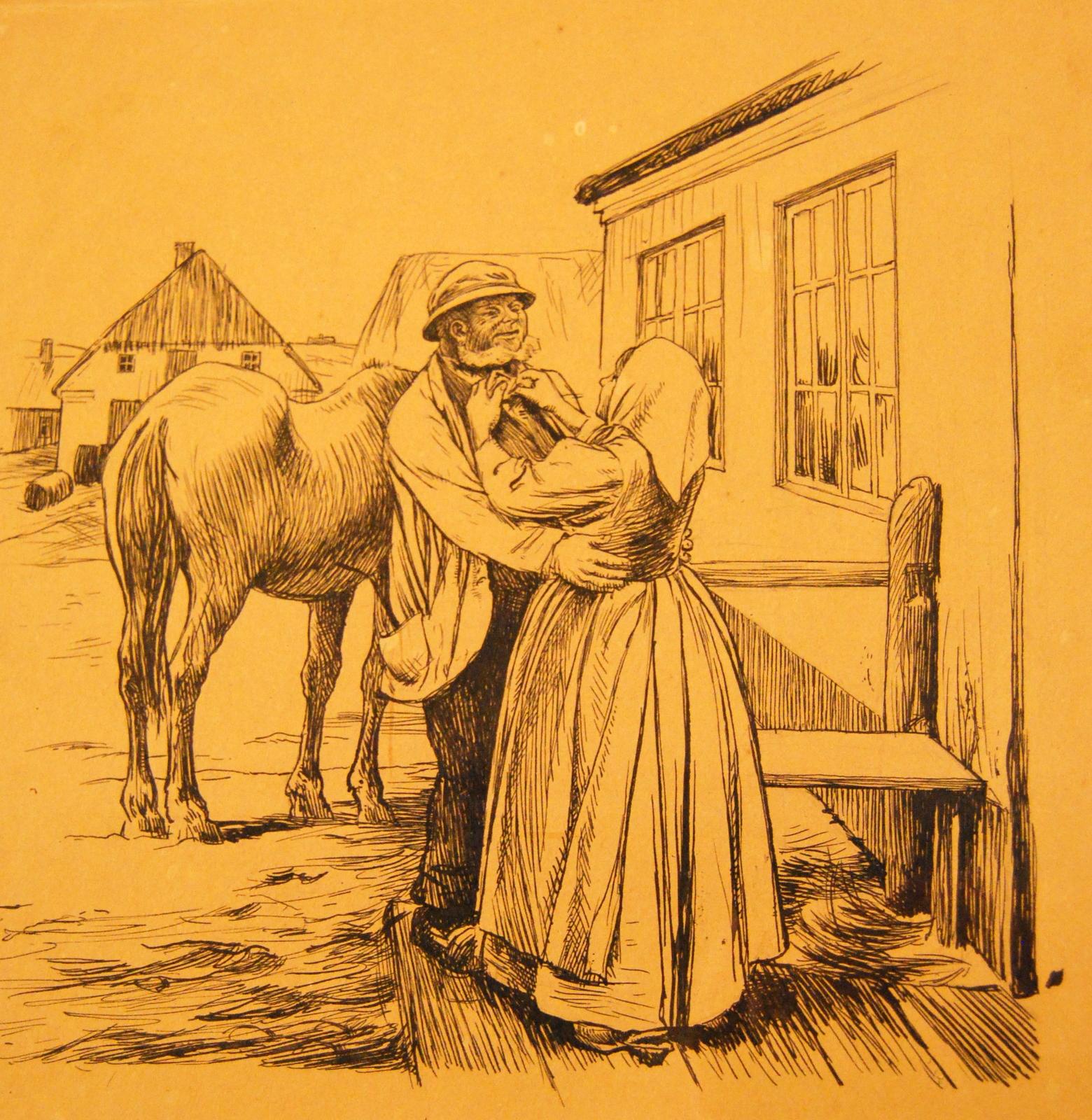 Hvad Fatter Gjør, det er altid det Rigtige, illustration af Hans Tegner o. 1900. Foto Lars Bjørnsten