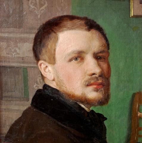 Lorenz Frølich. Maler, Professor 1820 1908. Selvportræt. Foto Lars Bjørnsten Odesense 2011. Frederiksborg Slot