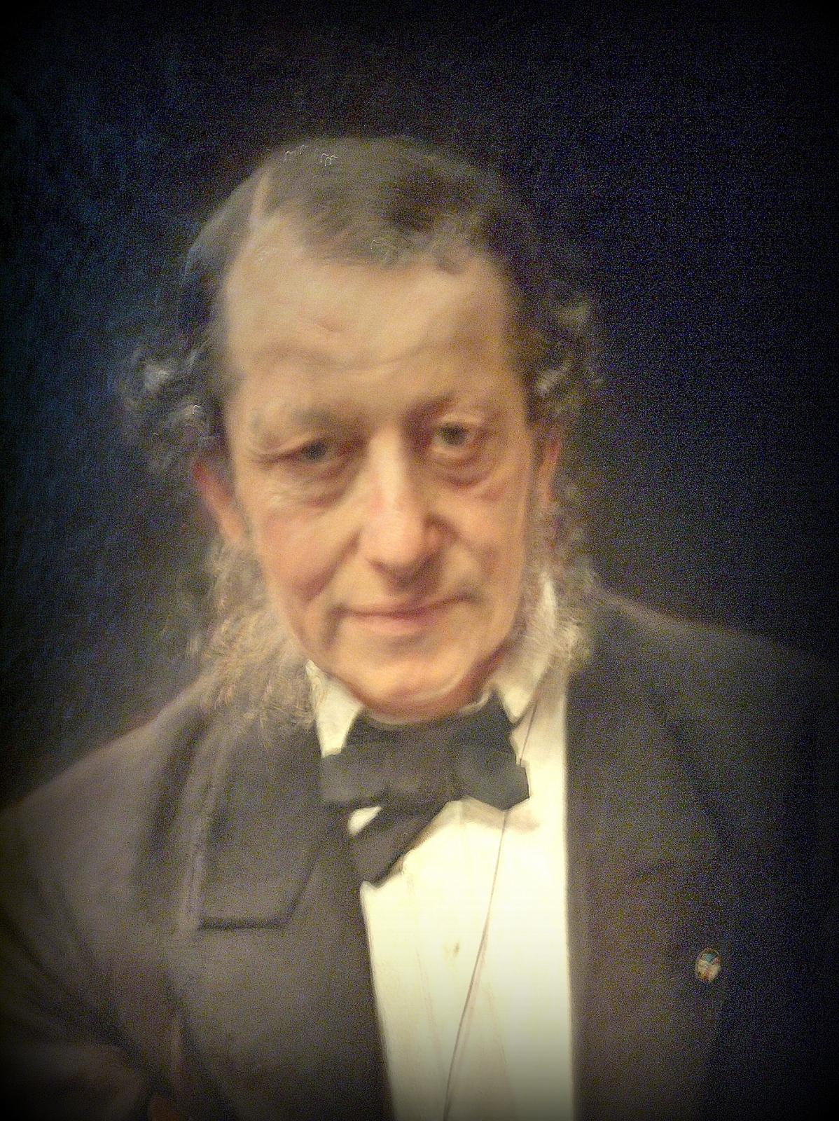 Udsnit af maleri af Moritz G. Melchior (1816-1884). Malet af Bertha Wegmann 1880 -1884.