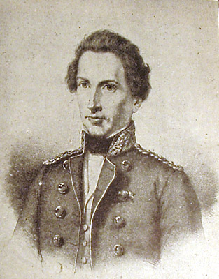 Frederik Læssøe, (23. september 1811 - 25. juli 1850). Litografi efter J. A. Jerichau. Kilde Wikipedia, den frie encyklopædi