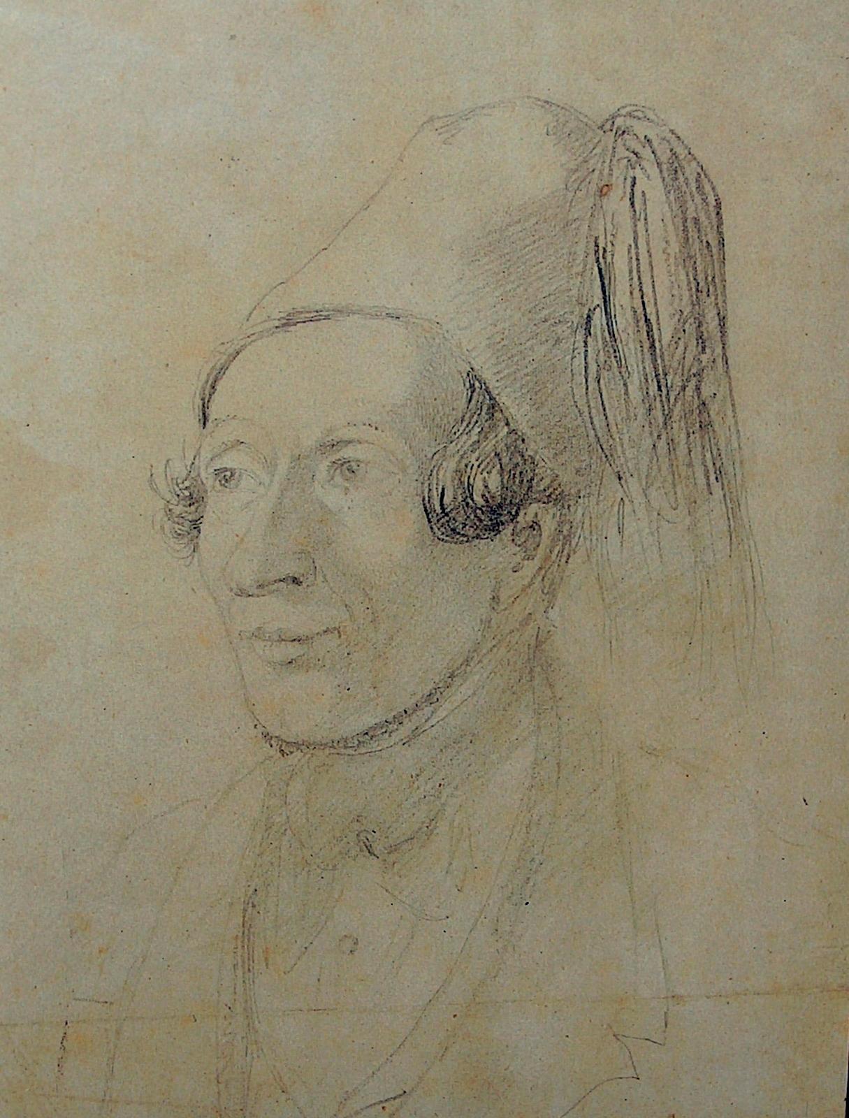 H.C. Andersen med fez. Tegning af Christian Hansen, Athen 1841. Det Kongelige Kobberstiksamlingen. Foto Lars Bjørnsten Odense 2004