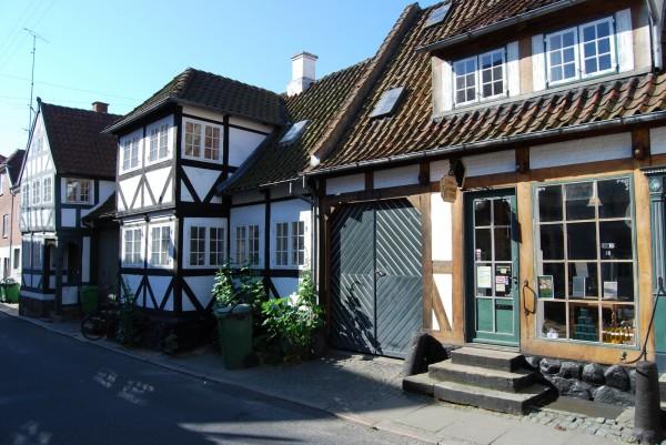 Gamle huse i Svendborg. Foto Lars Bjørnsten 2009