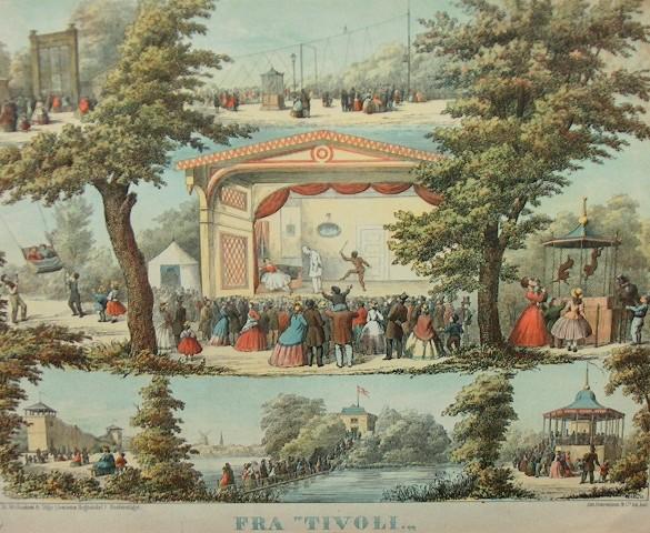 Tivoli København 1870. Foto Lars Bjørnsten Odense