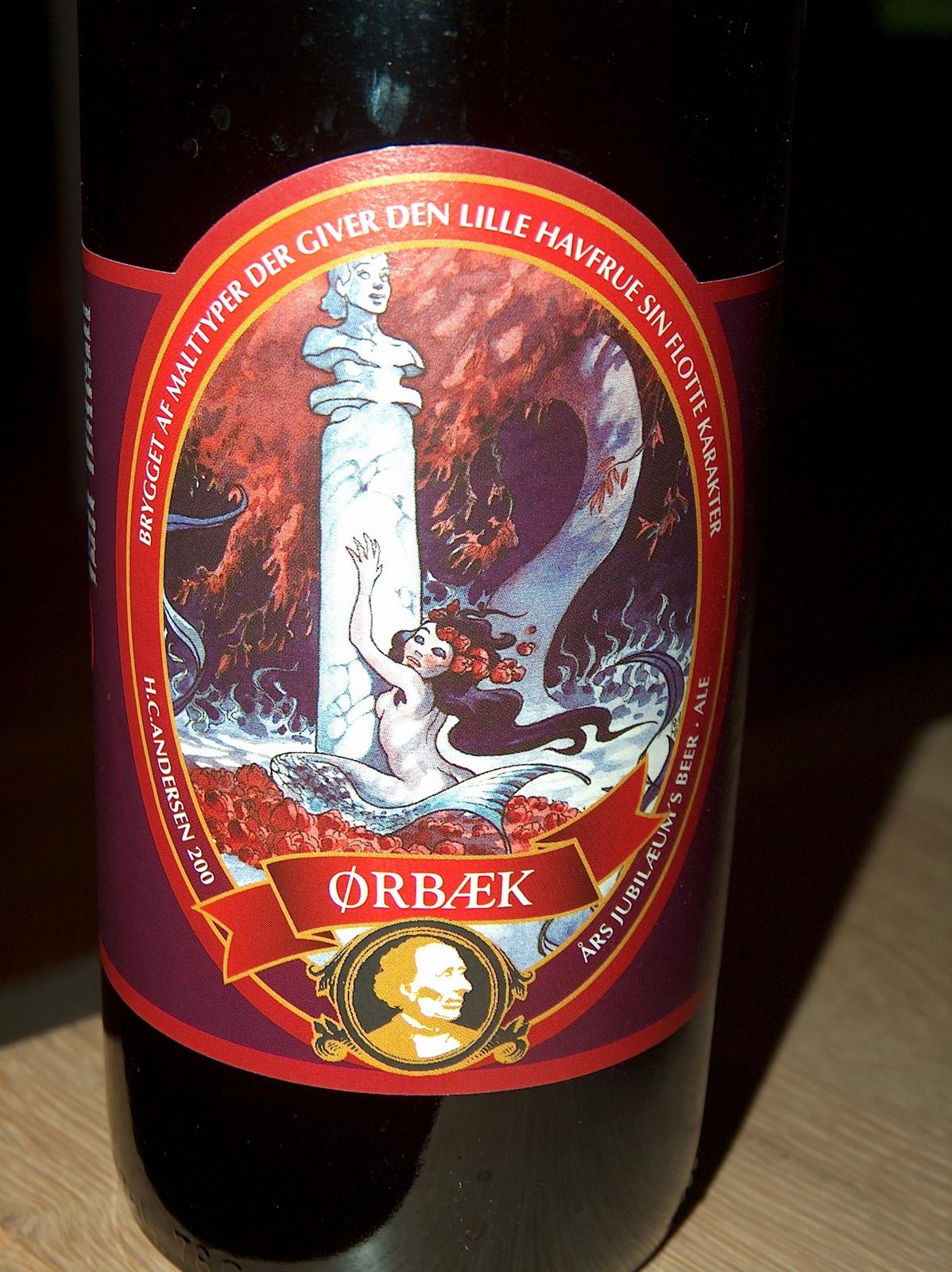 H.C. Andersen 200 års jubilæum's Beer - Ale . Brygget af malttyper der giver den lille havfrue sin flotte karakter