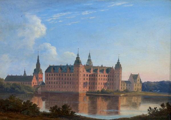 Frederiksborg Slot. Malet af Andreas Juuel inden 1856. Foto Lars Bjørnsten Odense 2005. Set på Frederiksborg Slot.