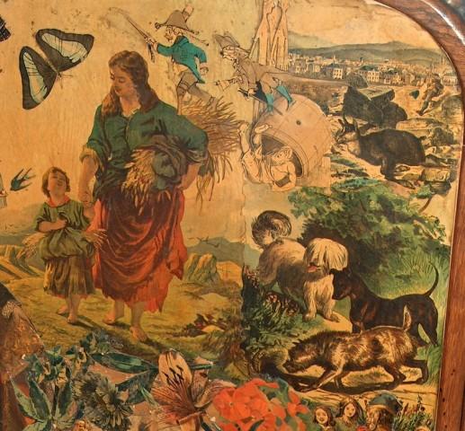 Udsnit af skærmbrædt udført grevinde Wanda Danneskiold-Samsøe. Foto Lars Bjørnsten Odense 2004.