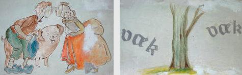 H.C. Andersen eventyrfrise på Bogense Skole 2004