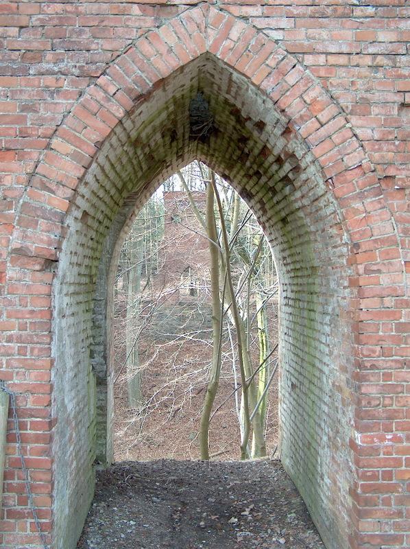 Foto fra hængebroen i Glorup | H.C. Andersen Information