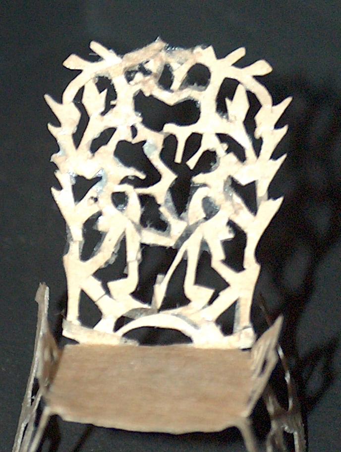 Gyngestol klippet af H.C. Andersen i papir! | H.C. Andersen