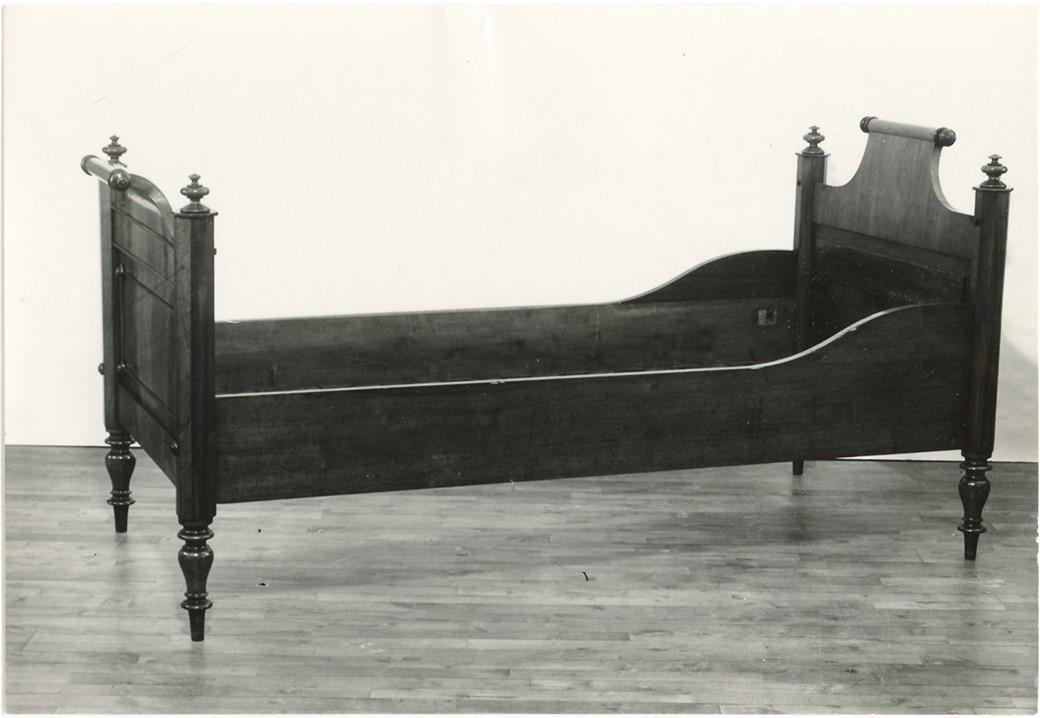H.C. Andersens seng af mahogni fra 1848-1865